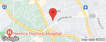 Map of 5412 Glenside Dr in Richmond
