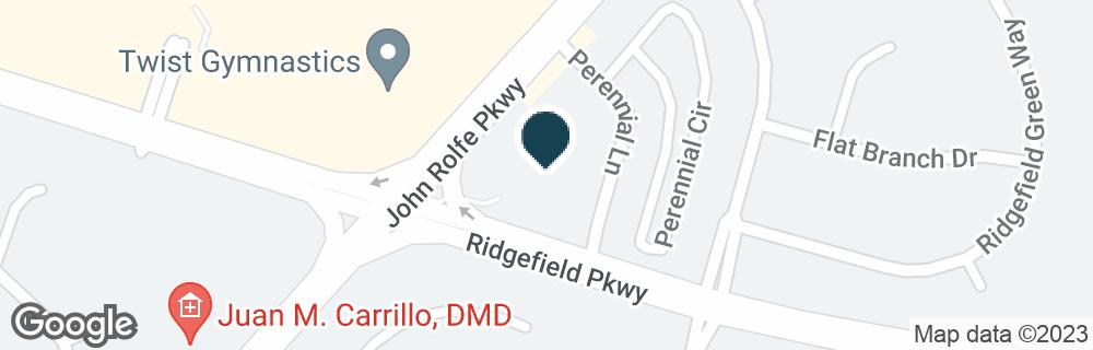 Google Map of10720 RIDGEFIELD PKWY