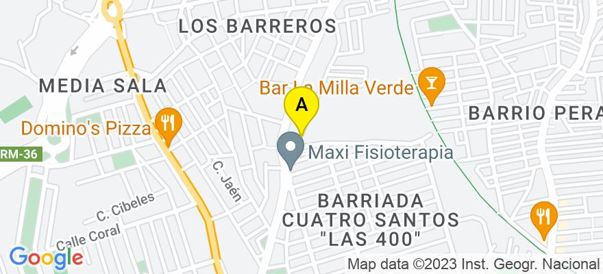 situacion en el mapa de . Direccion: Calle Palas Nº 12 Planta 2, 30202 Cartagena. Murcia