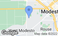 Map of Modesto, CA