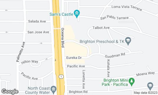 Map of Longboard Margarita Bar at 180 Eureka Sq Pacifica, CA