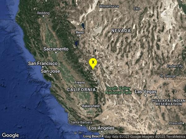 earthquake 9km E of Mammoth Lakes, CA