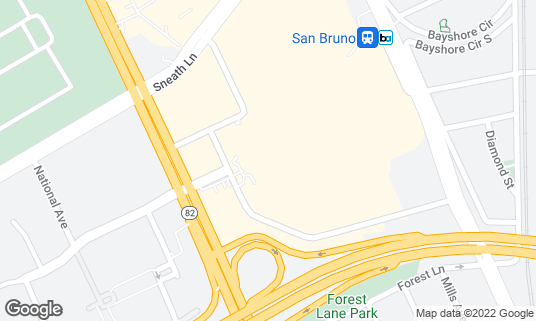 Map of BJ's Restaurant and Brewhouse at 1140 El Camino Real Ste 271 San Bruno, CA