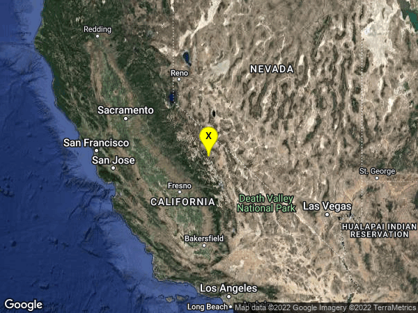 earthquake 8km E of Mammoth Lakes, CA