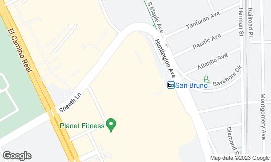 Map of Century at Tanforan and XD at 1188 El Camino Real San Bruno, CA