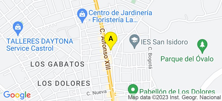 situacion en el mapa de . Direccion: C/ Sagasta 11, 2º, 30201 Cartagena. Murcia