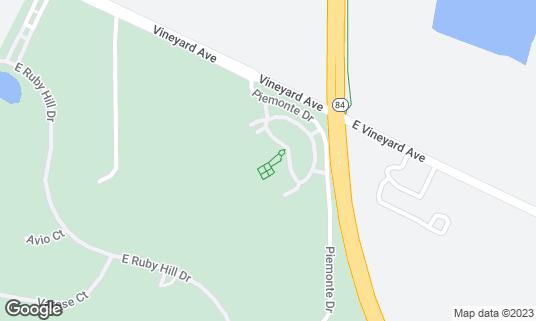 Map of Casa Real at Ruby Hill Winery at 410 Vineyard Ave Pleasanton, CA