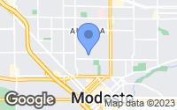 Map of Modesto, CA