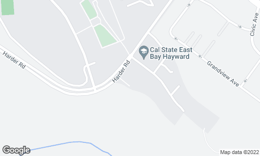 Map of Cal State East Bay Dining Commons at 1901 Harder Rd Hayward, CA