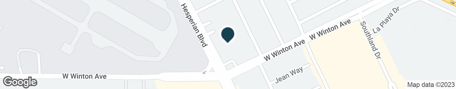 Google Map of23958 HESPERIAN BLVD