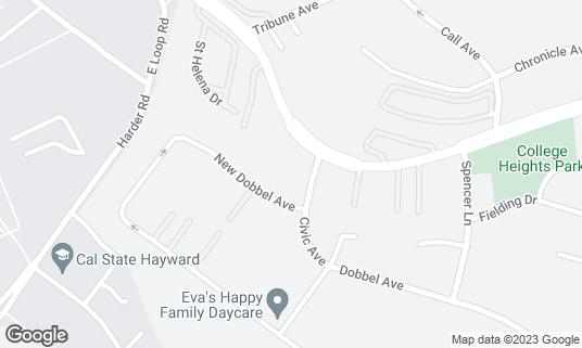 Map of Bonfare Market at 26775 Hayward Blvd Hayward, CA