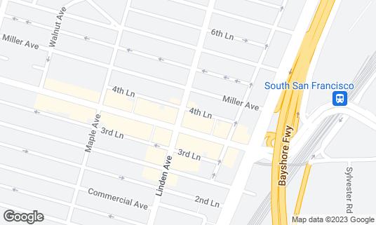 Map of Amami San at 310 Linden Ave South San Francisco, CA