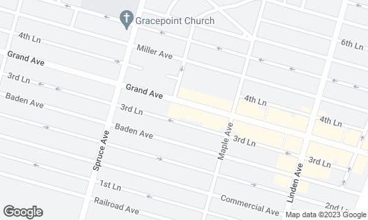 Map of Antigua Coffee Shop at 437 Grand Ave South San Francisco, CA