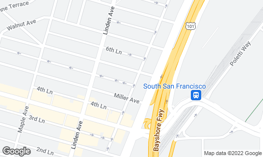 Map of Bertolucci's Ristorante at 421 Cypress Ave South San Francisco, CA