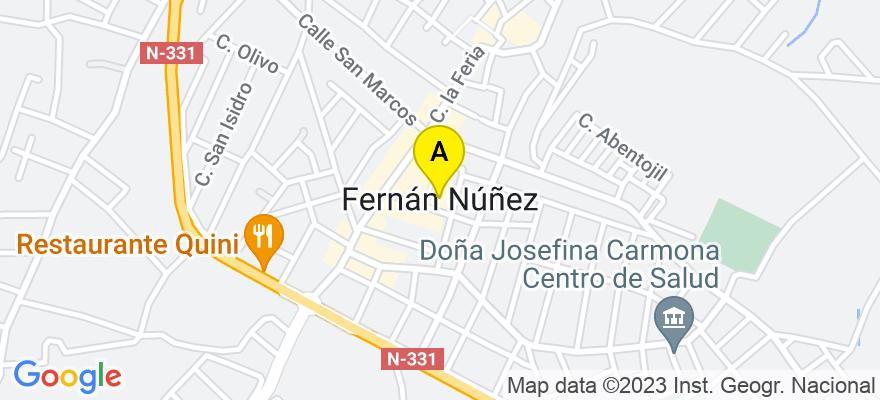 situacion en el mapa de . Direccion: Miguel Servet 14, Local Bajo Derecha, 14520 Fernán-Núñez. Córdoba