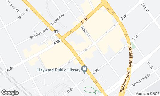 Map of Dirty Bird Lounge at 926 B St Hayward, CA