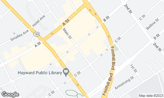 Map of Acqua e Farina at 22622 Main St Hayward, CA