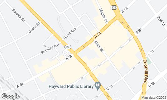 Map of Buon Appetito at 917 A St Hayward, CA