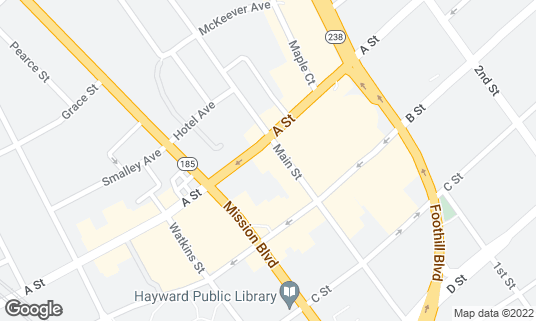 Map of The World Famous Turf Club at 22519 Main St Hayward, CA