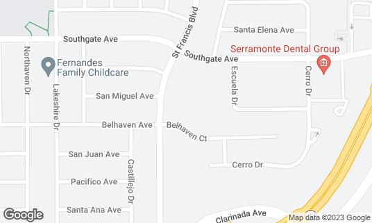 Map of Burma Cafe at 63 Saint Francis Sq Daly City, CA