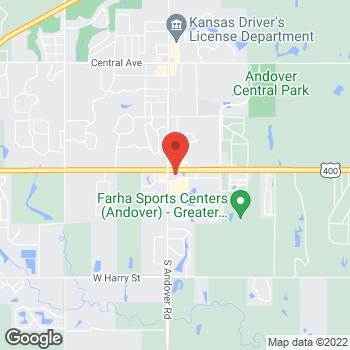 Map of Arby's at 200 E. Cloud, Andover, KS 67002