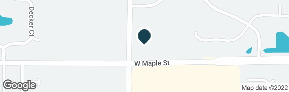 Google Map of13534 W MAPLE ST