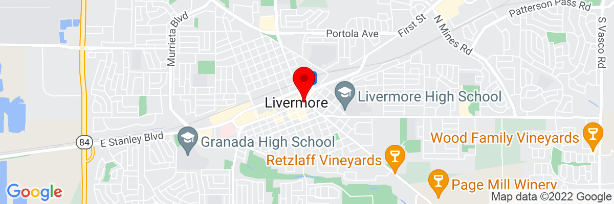 Google Map of 37.681874444444,-121.76800888889
