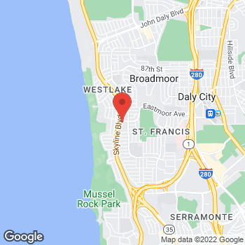 Map of Taco Bell at 287 Westmoor Ave, Daly City, CA 94015
