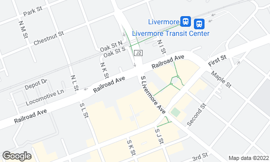 Map of Tap 25 at 25 S Livermore Ave Ste 107 Livermore, CA