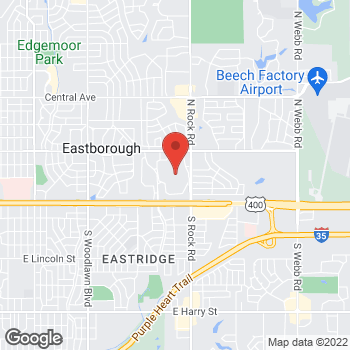 Map of 7700 East Kellogg in Wichita