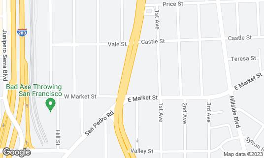 Map of Maharlika Filipino Fast Food at 7367 Mission St Daly City, CA