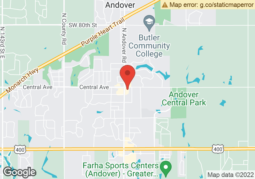 Google Map of 440 N ANDOVER RD