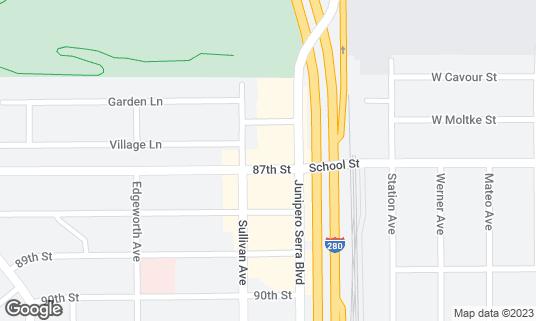 Map of IHOP at 2398 Junipero Serra Blvd Daly City, CA