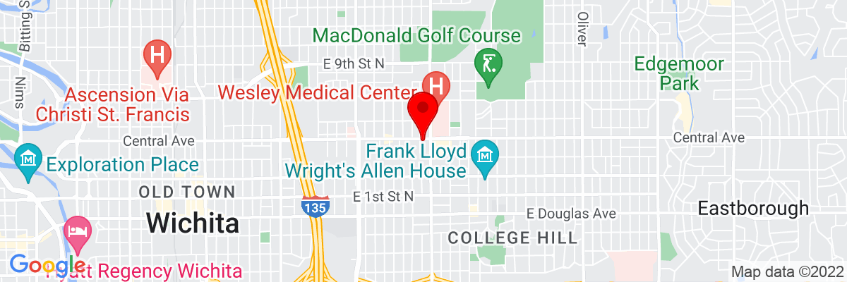 Google Map of 37.693478611111,-97.299956666667