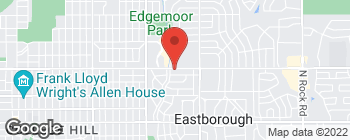 Map of 5825 E Central Ave in Wichita