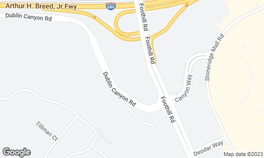 Map of Pleasanton Marriott at 11950 Dublin Canyon Rd Pleasanton, CA