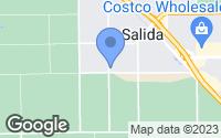 Map of Salida, CA