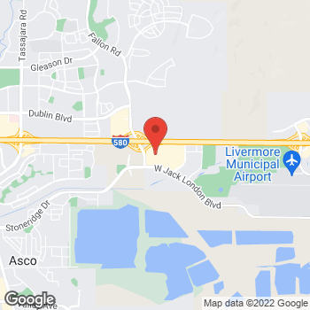 Map of Sunglass Hut at 2976 Livermore Outlets Dr, Livermore, CA 94551