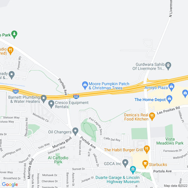 Map of Livermore Zone Express Lanes