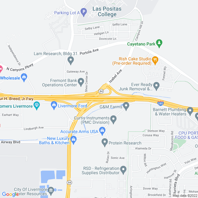 Map of Isabel Zone Express Lanes