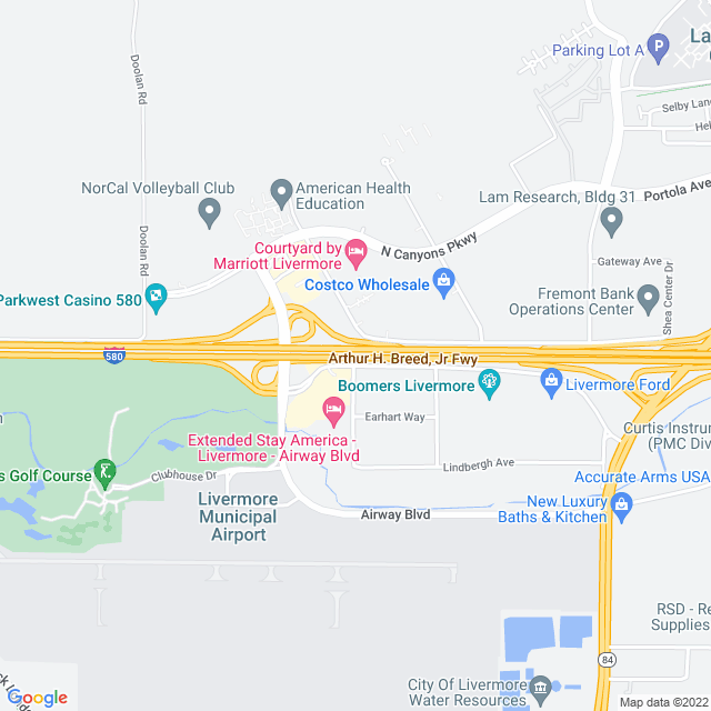 Map of I-580 Airway Zone 2 Express Lanes