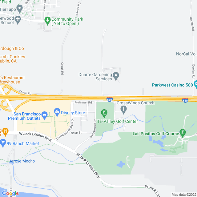 Map of Toll Road | I-580 Airway Zone 1 Express Lanes