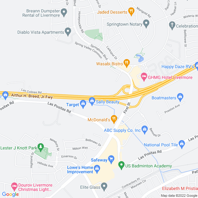 Map of Toll Road | I-580 N First Zone Express Lanes