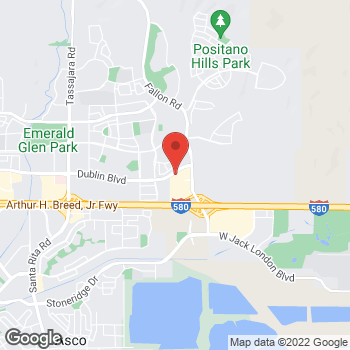 Map of Guitar Center Lessons at 2880 Dublin Blvd., Dublin, CA 94568