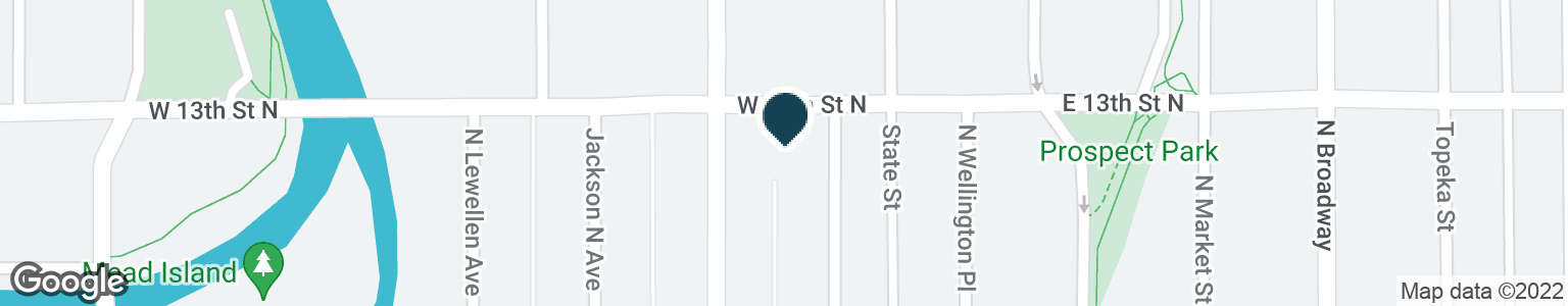 Google Map of333 W 13TH ST N