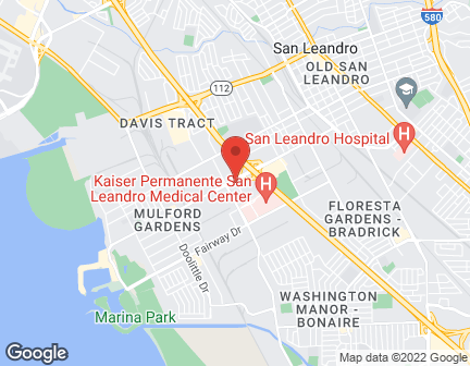 Map of 1803 Marina Blvd in San Leandro