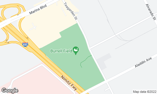 Map of Burrell Fields at 2301-2599 Teagarden St San Leandro, CA