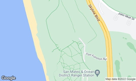 Map of Fort Funston at 500 Skyline Blvd San Francisco, CA
