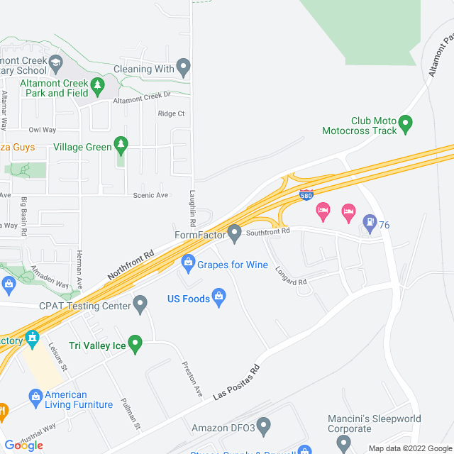 Map of Greenville Zone Express Lanes