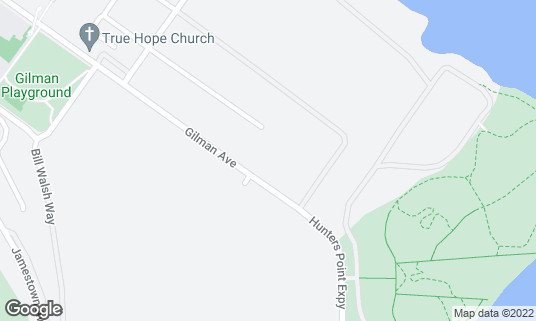 Map of Candlestick RV Park at 650 Gilman Ave San Francisco, CA
